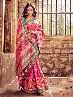 Multicolor Designer Saree with Blouse #rajwadi #silksaree #saree #sareeswag #bridal #embroidered #FeelRoyal #weddingwear