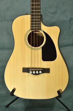 Fender CB-100CE Acoustic Electric Bass Guitar - Natural - Indian Creek Guitars