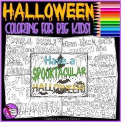 These Halloween zen doodle quote coloring pages are a relaxing and fun resource for your students to Space Activities, Activities For Teens, Halloween Activities, Halloween Doodle, Halloween Quotes, Quote Coloring Pages, Colouring Pages, Scary Couples Costumes, Mindfulness Colouring