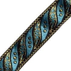 Venus Ribbon 1-Inch Metallic Jacquard, Black/Turq/Gold, 5-Yard Venus Ribbon http://www.amazon.com/dp/B008AFV8WQ/ref=cm_sw_r_pi_dp_MV5Nwb13DAQSM