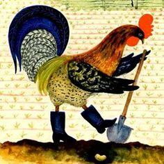 """Русская народная сказка """"Бобовое зернышко"""" Жили-были петушок да курочка. Рылся петушок и вырыл бобок. —Ко-ко-ко, курочка, ешь бобовое зёрнышко! —Ко-ко-ко, петушок, ешь сам! Съел петушок зернышко и подавился..."""