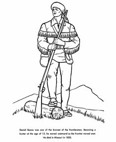 davy crocket coloring pages - photo#16