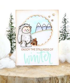 Just ME: Hello winter (Neat and Tangled release week) - Blumen Christmas Svg, Christmas Quotes, Winter Poster, Hello March, October, Hallo Winter, Snowmen At Night, Mama Elephant Cards, Winter Karten
