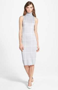 C/MEO Collective C/MEO 'New Guard' Windowpane Print Knit Sleeveless Sheath Dress available at #Nordstrom