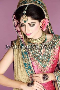 Maria B. Brildal Collection, Make over by the super amazing Mariam Khawaja.
