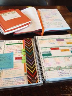 """Planning your day turns into living your life."" Pinner solved the layout issue with Erin Condren planners by masking the pre-printed stuff with washi tape."