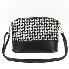 2016 Fashion Brand New Women Leather Messenger Bag Houndstooth Luxury Designer Handbags Shoulder Bag bolsos Sac a main Feminina