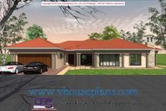 Overall Dimensions- x mBathrooms- 3 Car GarageArea- Square meters 4 Bedroom House Designs, Three Bedroom House Plan, Dream Homes, My Dream Home, House Roof Design, Free House Plans, Building Costs, Bedrooms, New Homes