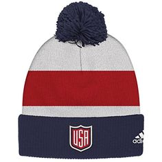 c7c57aab291de United States Adidas World Cup of Hockey Winter Cuffed Knit Pom Hat  This  is a USA World Cup of Hockey 2016 cuffed pom knit hat.