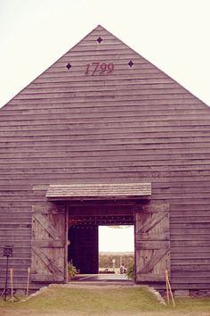 An old barn would be a much more stylish approach to a garage!