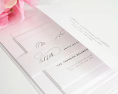 Simple Elegant Script Wedding Invitation  by shineinvitations, $6.50