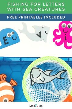 Teach your toddler or preschooler to spell their name with this fun fishing for letters game! The name recognition activity is easy to put together with our free sea creature printable and a few accessories, and once it's set up your child can fish for letters and practice sorting them into the right order to spell their name. Make learning fun with this letter sort game perfect for playtime at home or in the classroom! #nameactivities #namespelling #lettersorting #namerecognition Learning Phonics, Ways Of Learning, Play Based Learning, Name Activities, Alphabet Activities, Beach Crafts For Kids, Letter Sorting, Made Up Words, Letter Games