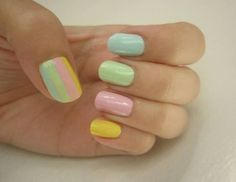 Easter is all about flowers, fuzzy animals, candy and pastels, and it just so happens all of these things look amazing on our nails. We've got 10 Easter nail art designs for you to try. Love Nails, How To Do Nails, Pretty Nails, Fun Nails, Nail Art Designs, Easter Nail Designs, Art D'ongles Pastel, Pastel Colors, Pretty Pastel