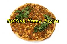 This Turkish pizza is aromatic, spicy, tasty, and really makes a change from Italian pizza #turkish #lahmacun