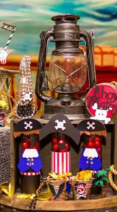 Pirates Birthday Party Favors! See more party planning ideas at CatchMyParty.com!
