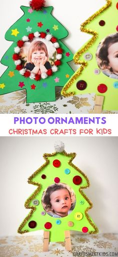 We made these adorable Christmas ornaments with our kids. With our free printable template, you can make these photo ornaments easily. Come with us to decorate your own Christmas tree photo ornaments. Toddler Christmas Photos, Christmas Crafts For Kids To Make, Preschool Christmas, Christmas Ornament Crafts, Diy Christmas Ornaments For Toddlers, Christmas Ideas, Kids Crafts, Christmas Decor, Picture Christmas Ornaments
