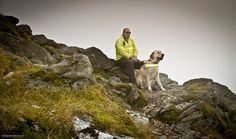 Day 18 of our Four Legs Tour - Nigel and guide dog Denby at Mount Snowden
