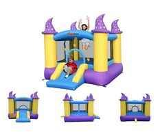 New Inflatable Bounce House Dry Bounce Kids Pool Adventure Park Backyard Party #Bounceland