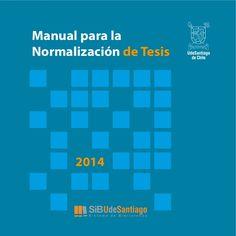 Manual para la Normalización de Tesis 2014