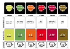 Clases de Té y temperaturas de servicio