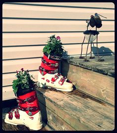 Finally! A use for old ski boots.