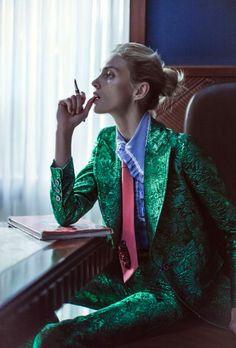 anja rubik and sasha pivovarova by chen man for vogue china february 2016 | visual optimism; fashion editorials, shows, campaigns & more!