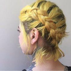 vibrant locks // hair // colour // hair dye // bright // aesthetic // grunge // pastel // yellow