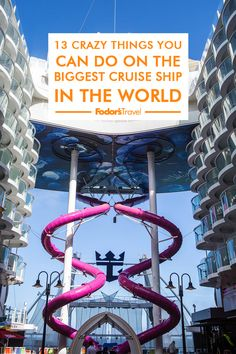 Robot bartenders, a slide, and 23 pools – what can't you find on the biggest cruise ship in the world? Biggest Cruise Ship, Symphony Of The Seas, Bartenders, Royal Caribbean, Cruises, You Can Do, Pools, Robot, Travel Tips