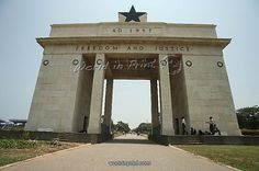 Independence Arch, Accra, Ghana, West Africa, Africa