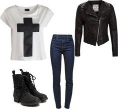 """rocker fashion."" by ovoxoandkisses on Polyvore"