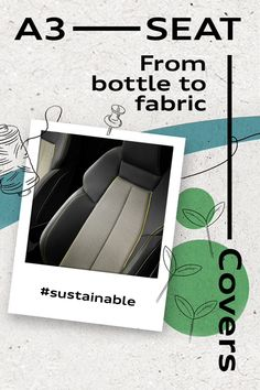 Recycle, transform and create. of the material in the seat covers of the new Audi is made using plastic bottle recycling. Recycled Bottles, Plastic Bottles, Pet Bottle, Audi A4, Seat Covers, Fabric Covered, A3, Sustainability, How To Find Out