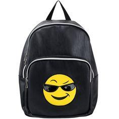 Olivia Miller Cool Emoji Backpack ($45) ❤ liked on Polyvore featuring bags, backpacks, rucksack bags, knapsack bag, olivia miller, daypack bag and day pack backpack