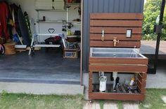 ガーデン添景物の1例(ハンモック架台 シンクのカバーリング) | 施工例 | 浜松のエクステリア・外構なら都田建設