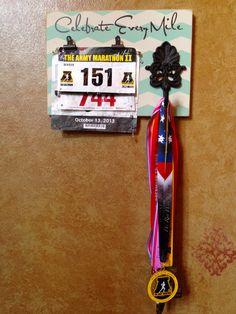 Running Medal holder and Running Race bib Holder by FrameYourEvent