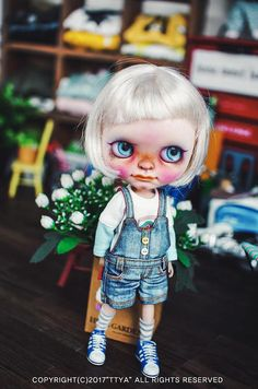 Blythe Washing button short overall