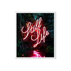 Yee Wong Disco in the Jungle On Photographs ($199) ❤ liked on Polyvore featuring home, home decor, wall art, modern home accessories, framed wall art, neon signs, modern home decor and neon wall art