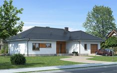 Projekt domu Elida 116,08 m2 - koszt budowy 258 tys. zł - EXTRADOM Home Building Design, Building A House, Gazebo, Outdoor Structures, Contemporary, Interior Design, Outdoor Decor, Home Decor, Cottage