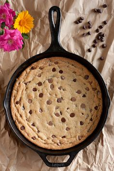 Cooking Classy: Skillet Chocolate Chip Cookie