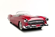 1954 PLYMOUTH BELMONT CONVERTIBLE - sold at the 2014 Scottsdale Barrett-Jackson Auction for $1.32M. Chrysler concept designed for the 1954 Chicago Auto Show and New York Autorama Show. Unfortunately,  the car was never put into production and this is the only one ever built.