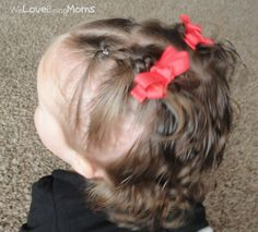 Toddler Hairstyles: mine will be 3 before she has enough hair for this