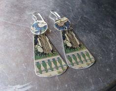 Garden Terrace Vintage Tin Earrings-Lightweight by eaststreettins