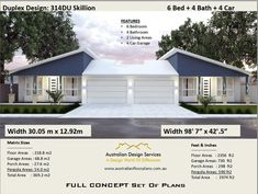 or 3974 Sq Foot 6 Bedrooms 4 Bathrooms duplex House Plans For Sale, A Frame House Plans, Three Bedroom House Plan, Pole Barn House Plans, Cottage Style House Plans, Bungalow House Plans, Craftsman House Plans, Duplex Floor Plans, Bedroom Floor Plans