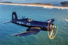 The Corsair was highly effective in WWII. It was originally intended for aircraft carrier duty b Ww2 Aircraft, Fighter Aircraft, Aircraft Carrier, Military Aircraft, Fighter Jets, F4u Corsair, Ww2 Planes, Vintage Airplanes, Aircraft Design