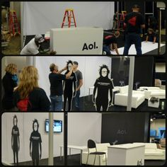 Building the AOL booth at the Seattle Interactive Conference 2013