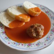 Rajská omáčka s koulemi od babičky recept Slovak Recipes, Czech Recipes, Good Food, Yummy Food, Cooking Recipes, Healthy Recipes, Food 52, Main Meals, I Foods