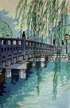 1955 - Kasamatsu Shirō - Benkei Bridge at Akasaka, by Shiro Kasamatsu