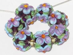Lampwork glass beads Handmade. Lampwork by FlamingGlassHoles
