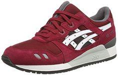 Asics Gel-lyte Iii, Unisex-Erwachsene Sneakers, Braun (burgundy/white 2301), 43.5 EU - http://uhr.haus/asics/43-5-eu-asics-gel-lyte-iii-unisex-erwachsene-blau-41
