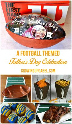 Is Dad a football fan? Celebrate him this Father's Day with any of these fun football themed party ideas including a personalized football!