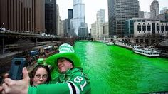 The Chicago River has been dyed a bright shade of green, kicking off the city's St. Chicago River, Ten, Shades Of Green, St Patricks Day, Kicks, Around The Worlds, City, Bright, Google Search